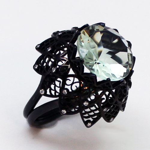 Prasiolite-Black-Lace-Ring