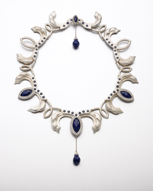 Sapphire and Lapis Necklace